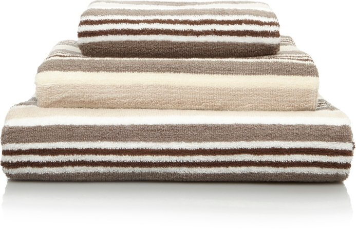 100% Cotton Natural Striped Towel Range