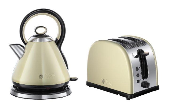 Russell Hobbs Legacy Kettle Toaster Range - Cream
