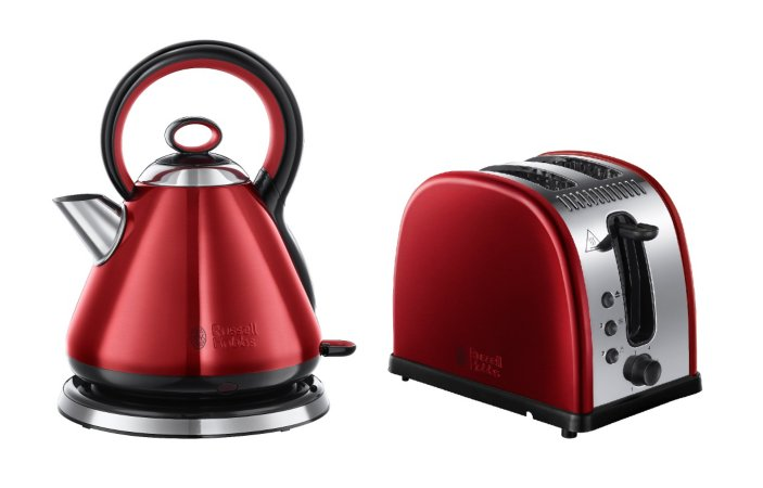 Russell Hobbs Legacy Kettle Toaster Range - Red