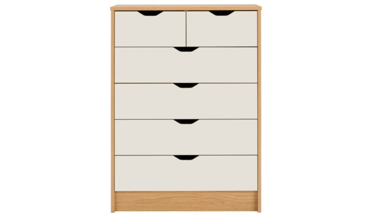 George Home Rupert Kids Furniture Range - Oak Effect and Cream