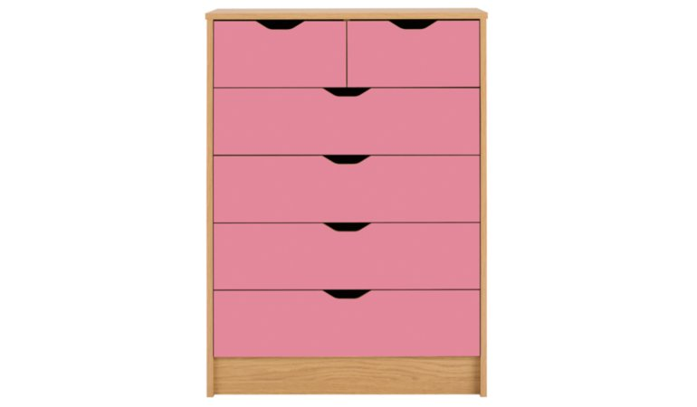 Rupert Kids Furniture Range - Oak Effect and Pink