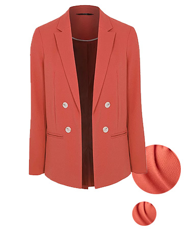 Smart dressing is funner when you wear this pink woven blazer