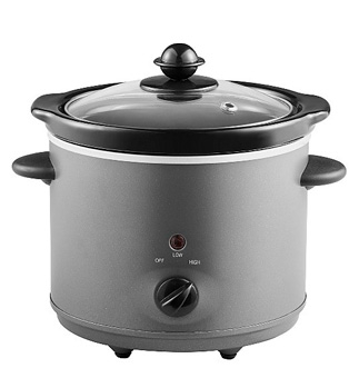 Grey compact slow cooker