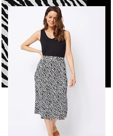 At work or play, this midi skirt is a stunning piece you'll love to style