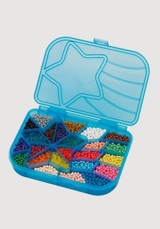 An open box of Aquabeads