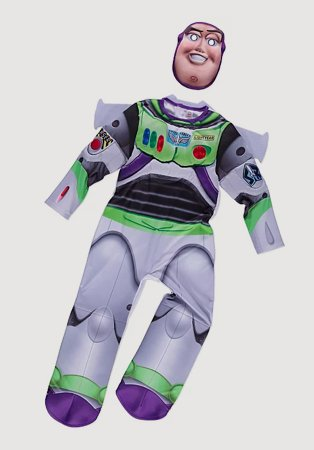 A Disney Toy Story Buzz Lightyear fancy dress costume