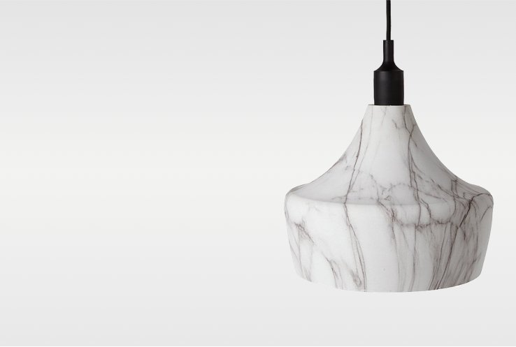 Marble-effect dinner ceiling pendant