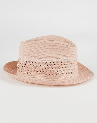Pink trilby hat