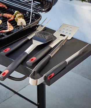 Close up shot of Expert Grill tool set.
