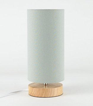 Green wooden cylinder lamp