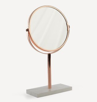 Copper marble base mirror