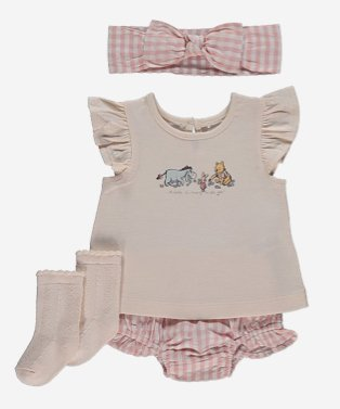 Disney Winnie the Pooh pink 4 piece outfit.