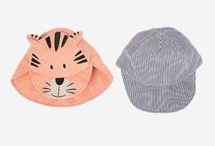 Orange cat keppi sun hats 2 pack.