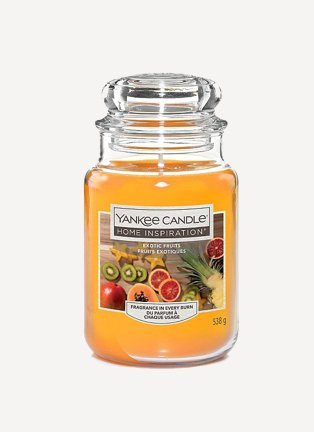 A large Yankee Candle in Exotic Fruits scent