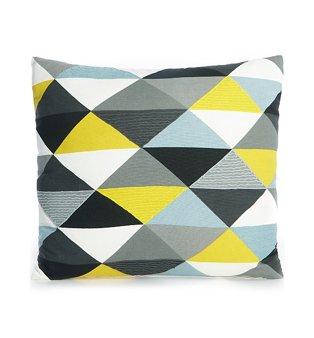 Geometric Triangle Print Cushion