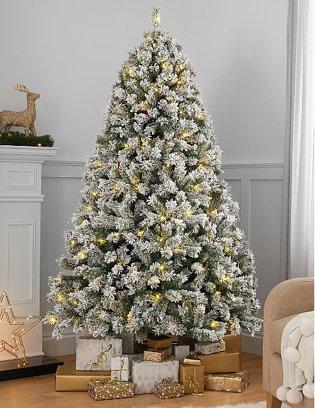 7ft Snowy Pre-Lit Christmas Tree.