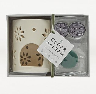 Festive Cedar Balsam Burner Gift Set.