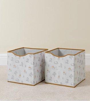 White Disney Winnie The Pooh Storage Box 2-Pack.