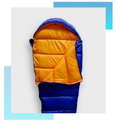 Sleep easy in a cosy sleeping bag