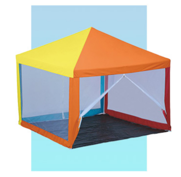 Transform your camp with a colourful gazebo