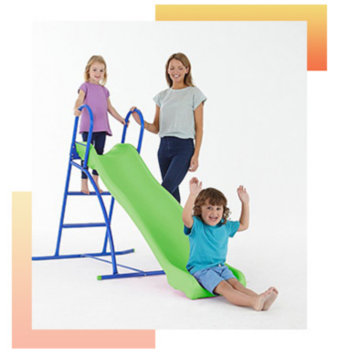 Keep the little ones entertained with a slide