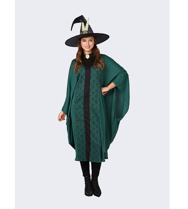 Woman wearing George Halloween witch costume