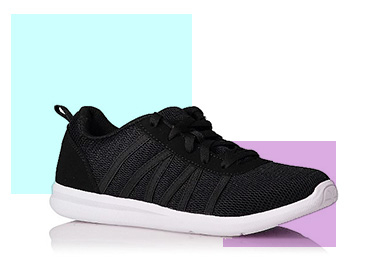 Whether you're attending a fitness class or at the gym, these light and comfy trainers are a great option