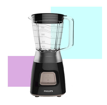 Create smoothies and more with this Phillips blender, complete with 4 star stainless steel blade