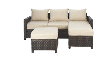 Create a comfy spot in the sun with a stylish garden sofa set