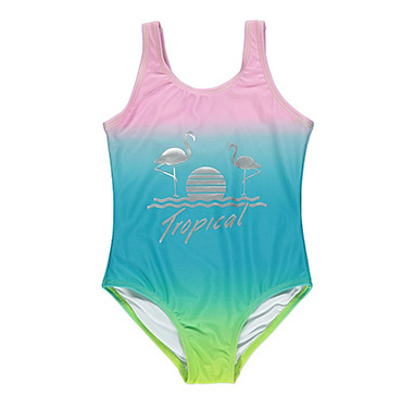 Let them show off their swimming skills in a fun swimsuit