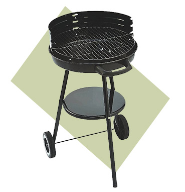 Our Classic Trolley Grill is a medium sized BBQ with 3 cooking heights