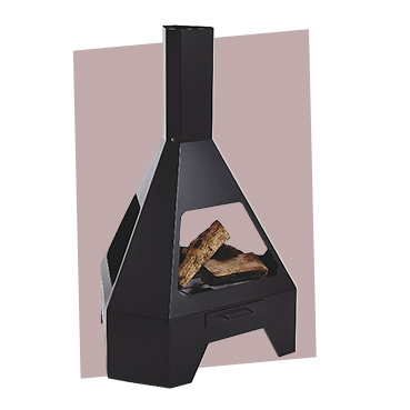 Bring some warmth to your summer evenings with this large, contemporary-styled Pyramid Chimenea log burner