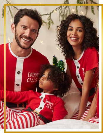Relax in matching Christmas outfits with fun slogans