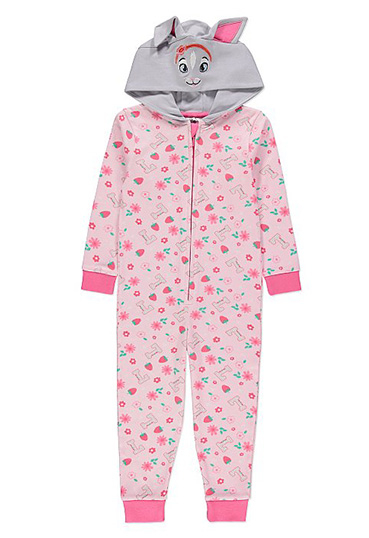 Soft and warm, this 100% cotton pink Lily Bobtail Peter Rabbit onesie is a great choice for snuggling