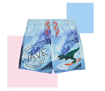 Get them ready for sun, sea and sand with our fun range of swimming trunks