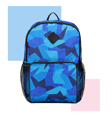 A colourful rucksack is the perfect way to keep their essentials at hand