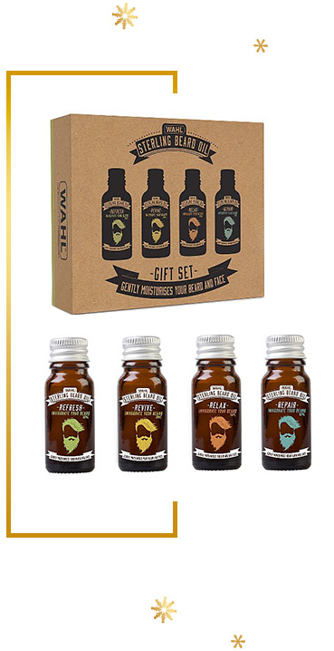 Help him hydrate and nurture his beard with a Wahl Beard Oil Gift Set