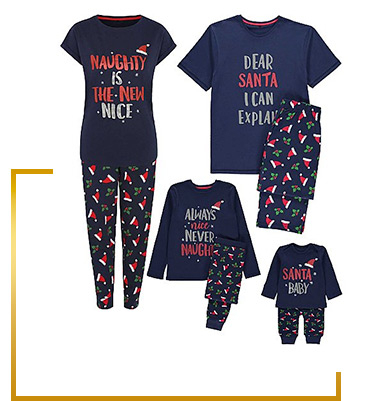 Our mini me nightwear comes in sizes for adults and kids, with fun slogans