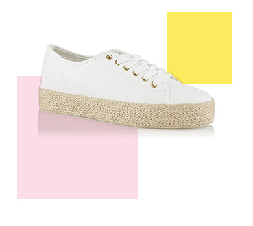 These white trainers are perfect for your next summer getaway