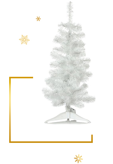 For something a little different, go for our pre-lit white Christmas tree