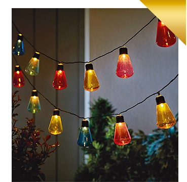 Our LED string lights are colourful and look as great on your tree as over the banister