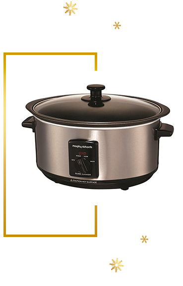 Relax while your kitchen creation simmers in a slow cooker