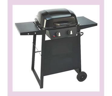 The Expert Grill 2 Burner gas grill delivers a fresh new look, with matching black control panel and stylish control knobs