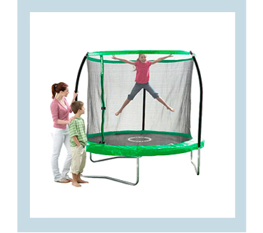 Keep the kids entertained during the summer months with this 8ft trampoline from Sportspower