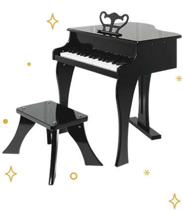 Aspiring musicians will love our wooden piano