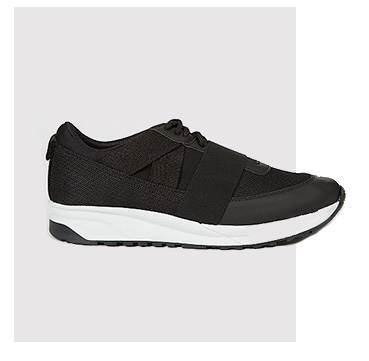 Product image of black mesh trainers