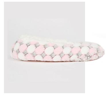 Product image of pink polka dot slipper socks