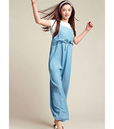 Complete their summer wardrobe with this blue jumpsuit