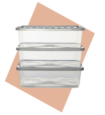 Create a clutter-free space with our range of plastic storage boxes