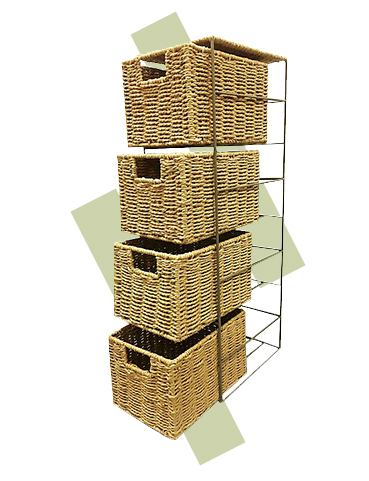 Woven storage baskets are a stylish way to keep the home organised